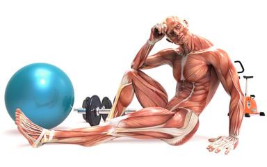 Cuerpo humano haciendo deporte
