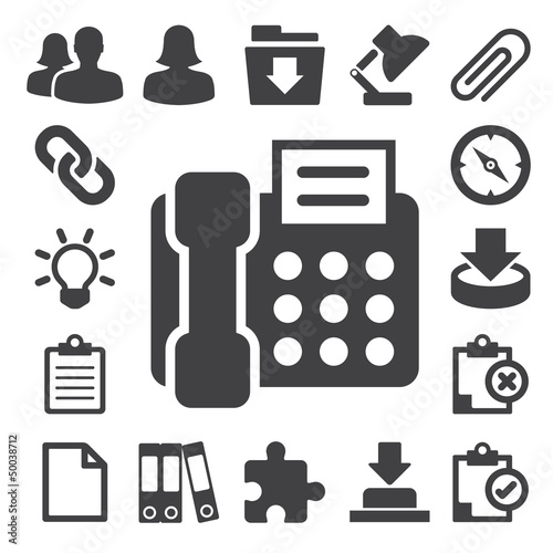 Office icons set. Illustration