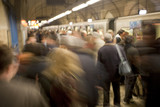 Busy Subway Platform in Rome, Italy
