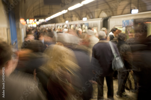 Busy Subway Platform in Rome, Italy - 50040925