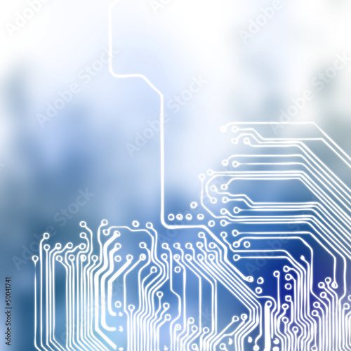 Microchip background - close-up of electronic circuit board