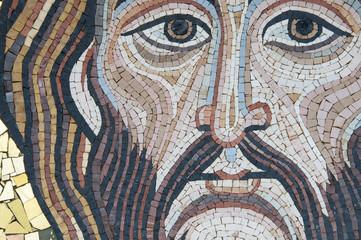 Jesus Christ. Modern mosaic made by a sicilian artist.