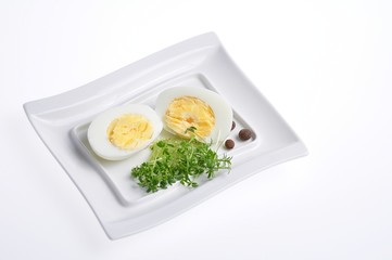 eggs and vegetables on a white plate 5