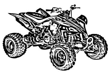 Four-wheel motorbike