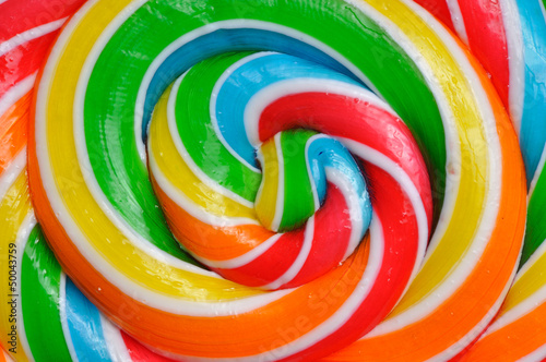 Close-up of colored lollipop