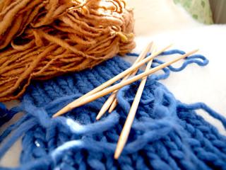 Schafwolle - Wolle auf Schaffell - Stricken
