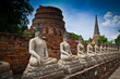 Ancient buddha in Ayutthaya province of Thailand