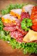 Deli meats closeup