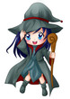 Cute cartoon illustration of a witch