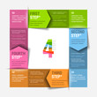 Four consecutive steps cycle - design template