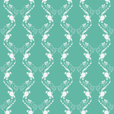 emerald green art deco pattern