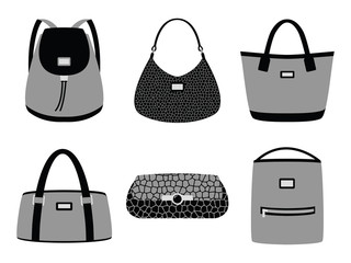 Bags set silhouettes