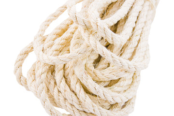 rope twisted on a white background