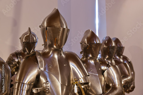 Armour of the knight in Ambras Palace - Innsbruck Austria
