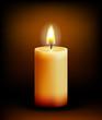 Church candle light