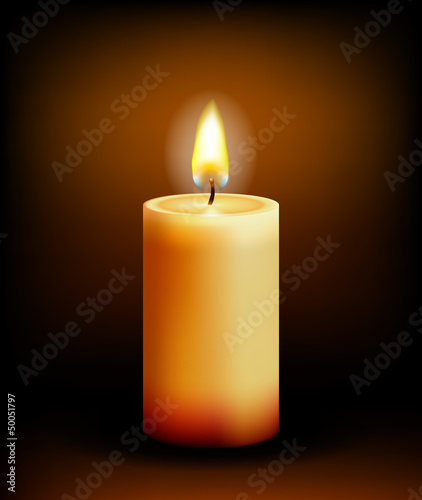 Church candle light