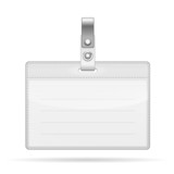 Name Tag Isolated on white