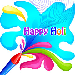 vector illustration of Holi celebration background