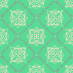 pattern in emerald green, delicate elegant lines