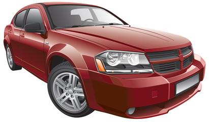 American mid-size car