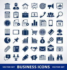 Vector set of simple business icons