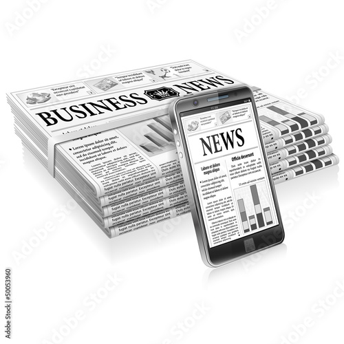 Concept - Digital News