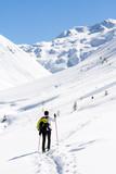 Fototapete Ausflug - Spaziergang - Wintersport