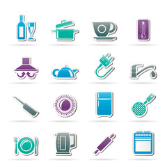 kitchen objects and accessories icons