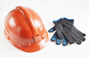 Helmet And Working Gloves