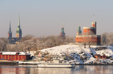 Stockholm winter view