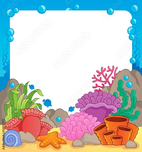 Coral reef theme frame 1