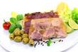 Fleisch, Gemüse, Oliven