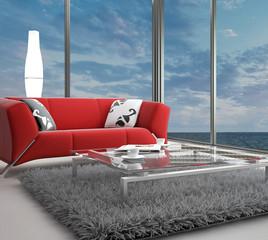 Beach Loft with Landscape View | Interior Architecture