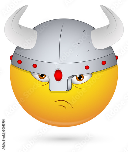 Smiley Vector Illustration - Viking Face