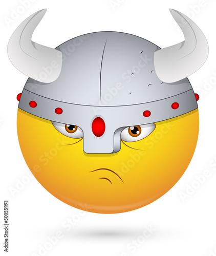 Smiley Vector Illustration - Viking Face