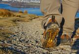 Fototapety walker on trek in the lake district