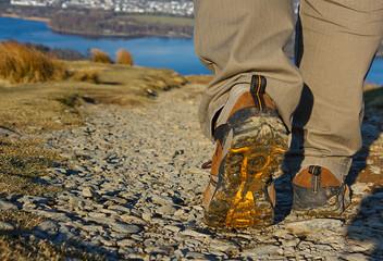 walker on trek in the lake district