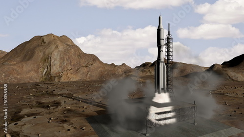 Animation of rocket launch