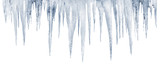 number of natural icicles on a white background