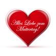 Herz, Muttertag, Liebe, Herzform, Form, Spruch, Text, 3D, Grüße
