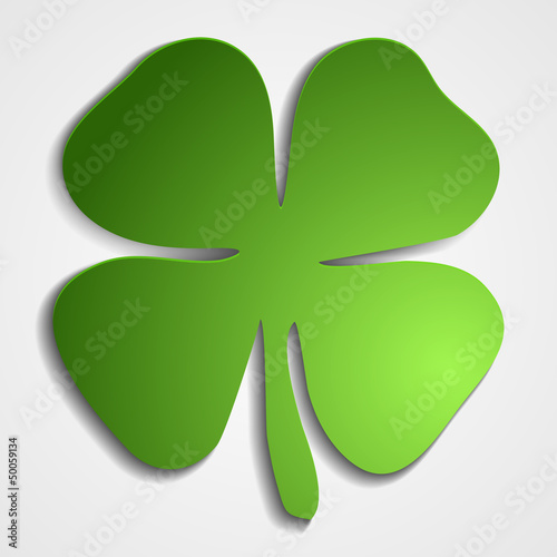 Paper craft clover