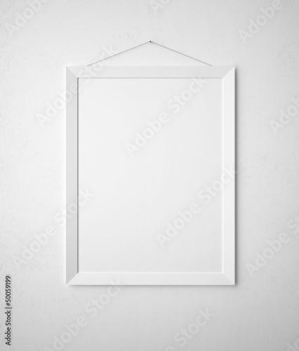 blank paper frame