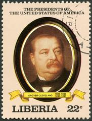 LIBERIA-1982: President Grover Cleveland (1885-1889, 1893-1897)
