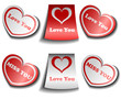 Valentine sticker set