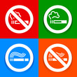 Stickers multicolored - No smoking symbol