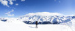 Winter ski panorama