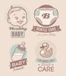 Baby retro emblem