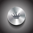 Vector brushed metal crown button