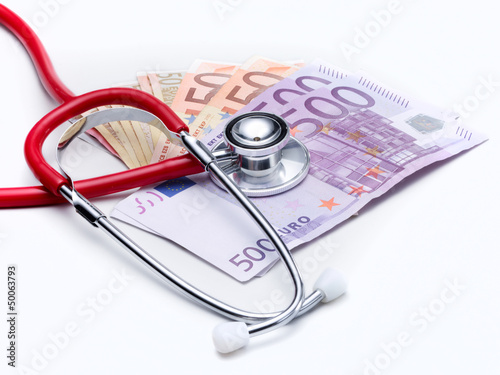 Stethoscope and money to show the cost increase