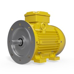 Electric Motor - B3/B5 FF - IM2001 - Yellow